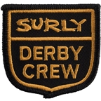 Surly Derby Crew Patch: Yellow/Black, 2.4 x 2.3""