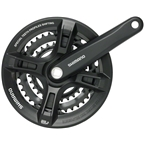 Shimano Altus M311 7/8-Speed 170mm 22/32/42t Square Crankset with Chainguard, Black
