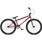 "We The People Atlas 24"" 2018 Complete BMX Bike 21.75"" Top Tube Matte Translucent Red"