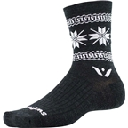 Swiftwick Vision Five Winter Collection Sock: Coal White
