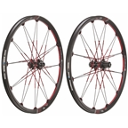 "Crank Brothers Opium-3 26"" Wheelset, Black/red"