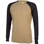Surly Raglan Shirt: Tan/Black
