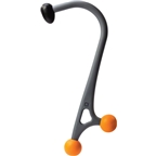 Trigger Point Acucurve Cane: Gray/Orange