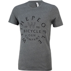 We The People W Shield T-Shirt: Heather Gray