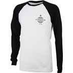 We The People Globe Long Sleeve Baseball T-Shirt: Black/White