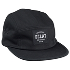 Eclat MFG Company 5 Panel Cap: Black One Size