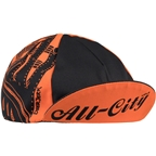 All-City/ DeerJerk Collaboration Cycling Cap: Orange/Black One Size