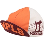 All-City Hennepin Bridge Cycling Cap: Maroon/Orange One Size