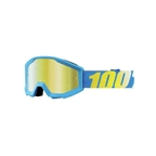 100% Strata Youth Goggle, Blue (Mirror Gold Lens)
