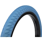 "Eclat Ridgestone Slick Tire 20 x 2.3"" 100 PSI Cream Blue Tread/Black Sidewall"