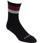 Whisky Double Bar Wool Sock: Black/Red