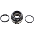 "Sunday Integrated Conical 1-1/8"" Headset 15mm Black"