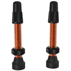 WTB Aluminum TCS Valve: 46mm, Orange, Pair