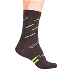 VeloToze Active Compression Wool Socks, Black/Yellow