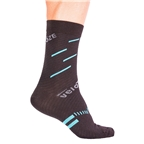 VeloToze Active Compression Wool Socks, Black/Blue