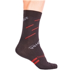 VeloToze Active Compression Wool Socks, Black/Red