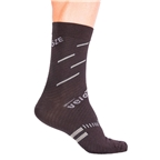 VeloToze Active Compression Wool Socks, Black/Gray