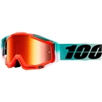 100% Racecraft Goggle: Cubica with Mirror Red Lens, Spare Clear Lens Included