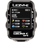 Lezyne Micro Color GPS Loaded Cycling Computer with Heart Rate: Black