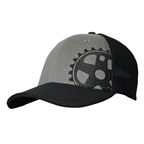 Headsweats Graphite Wool Crank 5-Panel Hat, Black