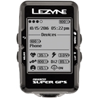Lezyne Super GPS Loaded Cycling Computer with Heart Rate and Speed/Cadence Sensor: Black
