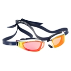 Michael Phelps Xceed Goggles: Blue/White with Titanium Mirror Lens