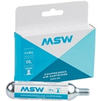 MSW CO2-20 CO2 Cartridge: 20g 3 Pack