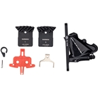 Shimano Dura Ace BR-R9170 Front Hydraulic Disc Brake Caliper, Flat Mount w/Bracket for 140/160mm Rotor, Resin Pad