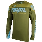 Royal Racing Victory Race LS Jersey, Olive/light Blue - XL