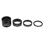 "Straitline Components SC 1-1/8"" Headset Spacer Kit, Black - 4pc"