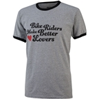 All-City Bike Riders Make Better Lovers T-Shirt: Gray