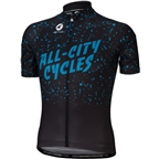 All-City Electric Boogaloo Men's Jersey: Black/Blue