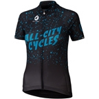 All-City Electric Boogaloo Women's Jersey: Black/Blue