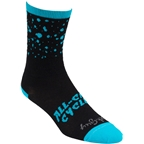 All-City Electric Boogaloo Wool Sock: Black/Blue