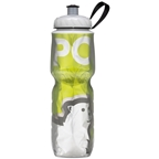 Polar Bottles Insulated Water Bottle: 24oz Green Bear
