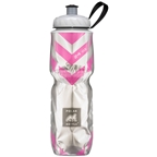 Polar Bottles Insulated Water Bottle: 24oz Chevron Pink