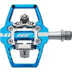 """HT T1 Clipless Pedal: 9/16"""" Marine Blue"""