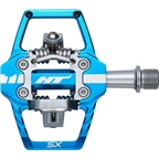 "HT T1-SX Clipless Pedal: 9/16"" Marine Blue"