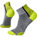 Smartwool PhD Cycle Ultra Light Men's Mini Sock: Light Gray
