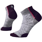 Smartwool PhD Cycle Ultra Light Women's Low Cut Sock: Light Gray