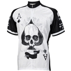 World Jerseys Deal with It Ace of Spades Men's Cycling Jersey: White/Black