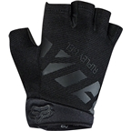 Fox Racing Ripley Gel Women's Short Finger Glove: Black/Black