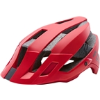 Fox Racing Flux Helmet: Black/Red SM/MD