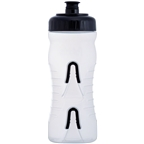 Fabric Cageless Water Bottle: 600ml, Clear/Black