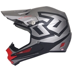 6D ATR-1Y Macro Youth Full Face Helmet: Titanium