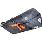 Ortlieb Bike Packing Seat Pack Medium: 11 Liter, Gray/Black