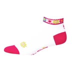 "Save Our Soles The Bloom 1"" Womens Socks, Fuchsia"