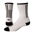 "Save Our Soles Tru Sole American Made 6"" Socks, White"