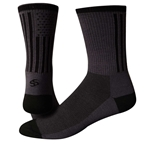 "Save Our Soles Tru Sole American Made 6"" Socks, Gray"