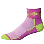 "Save Our Soles See Turtle 2.5"" Womens Socks, Purple"